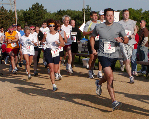 photo of start of Pathways 5K