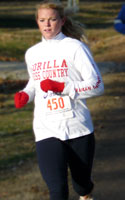 Photo of Erica Ogle, top female winner in Thanksgiving Day 5K.