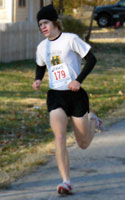 Photo of Matt Ri;ey, top male winner in Thanksgiving Day 5K.