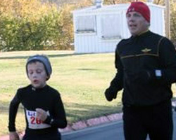 Photo of Jud and Jon King at the Turkey Trot at Haskell.