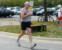 PHoto of Wes Hubert at the Mad Dog's Joh Bunce Run.
