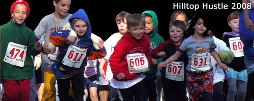 Photo of the 1K Family Run at the Hilltop Hustle.