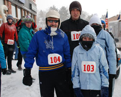 Photo of the Meyers Family and Cameron Chase in the U P for a 5K race,