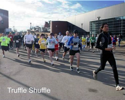 Photo of the start of the Truffle SHuffle 5K.