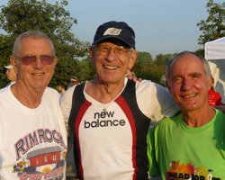 Photo of Wes Santee, Dick Wilson and John Huchingson.