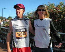 Photo of Keith Dowell and Deb at the Bupa Great North Run.