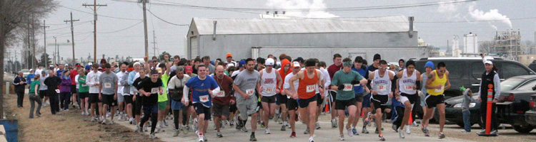 Start of the 2010 Shamrock Shuffle.