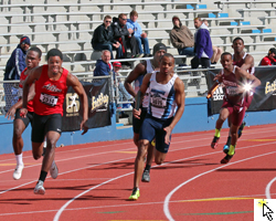 Mens 4x100 relay prelims.