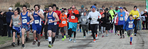 Photo of the start of the Rebel 5K Run on March 28, 2015.