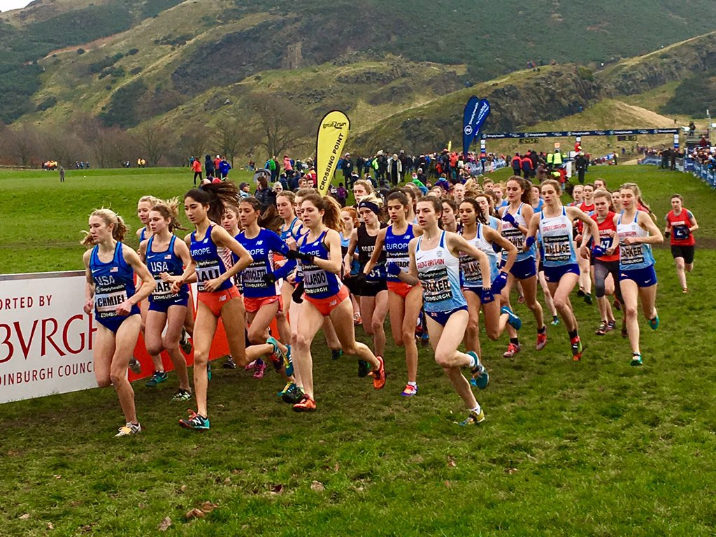 Photo from the Great Edinburgh Xcountry race January 13, 2018.