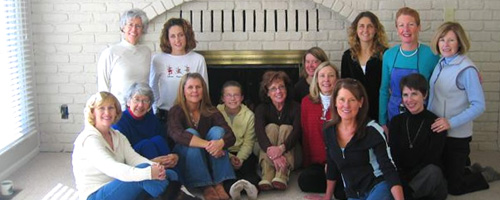 Photo of women runners at Sue Washburn's holiday party.